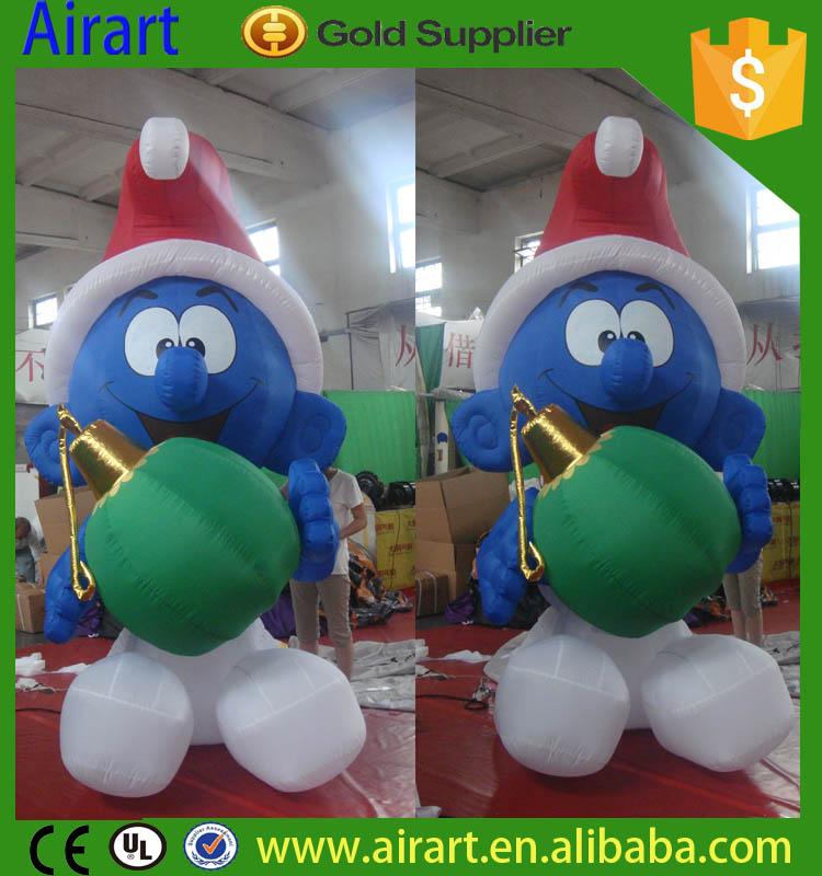 inflatable christmas smurfs - Inflatable Christmas