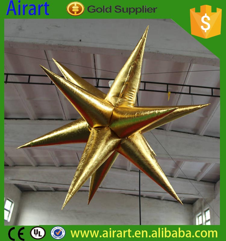 Inflatable christmas deco stars yantai airart inflatable co ltd for Air deco