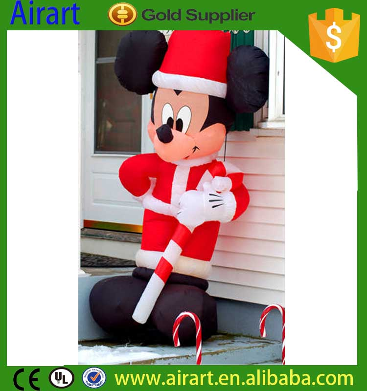 mickey mouse christmas inflatable