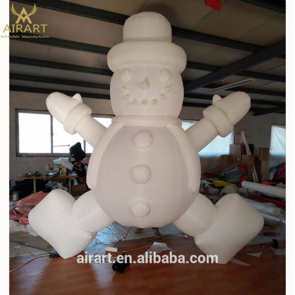inflatable snowman laying down